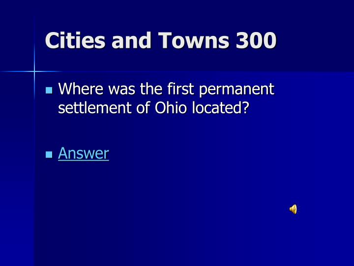 Cities and Towns 300