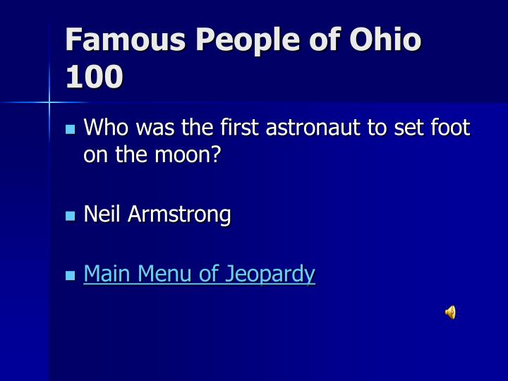 Famous People of Ohio 100
