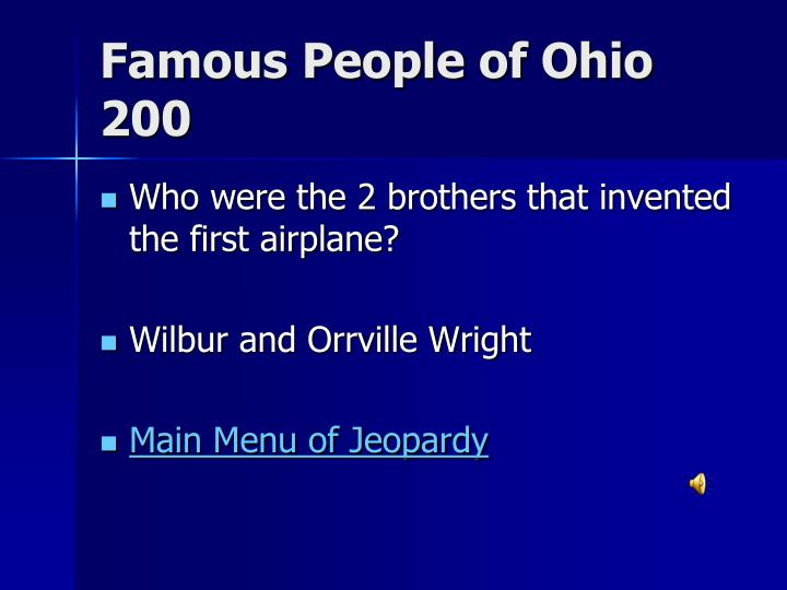 Famous People of Ohio 200