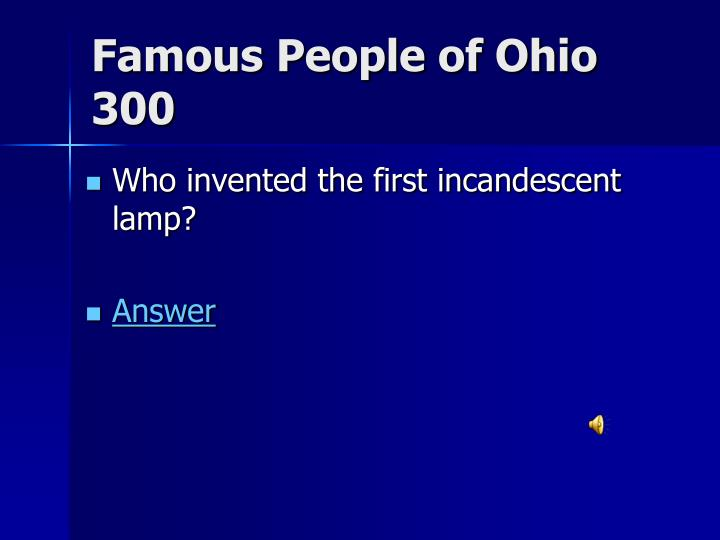 Famous People of Ohio 300