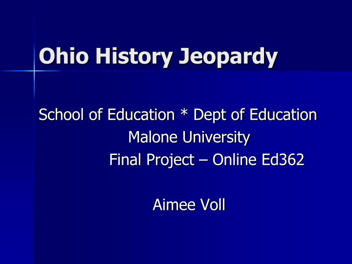 Ohio history jeopardy