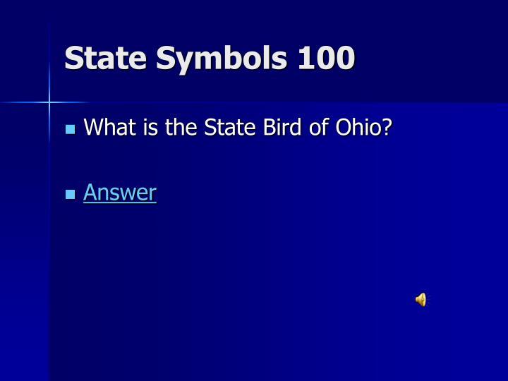 State Symbols 100