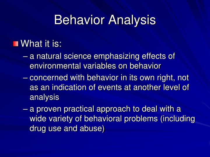 analysis on the behavioural approaches taken