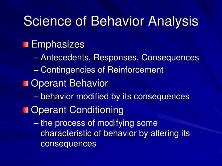 an introduction to the analysis of a human behavior The field of philosophy introduction development of sound methods of research and analysis still another value of philosophy in education is its contribution to one's capacity to frame hypotheses the discerning observation of human behavior.
