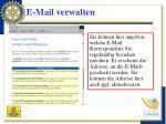 e mail verwalten