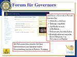 forum f r governors