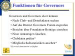 funktionen f r governors