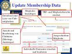 update membership data