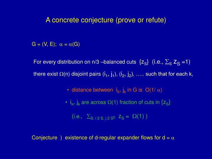 A concrete conjecture (prove or refute)