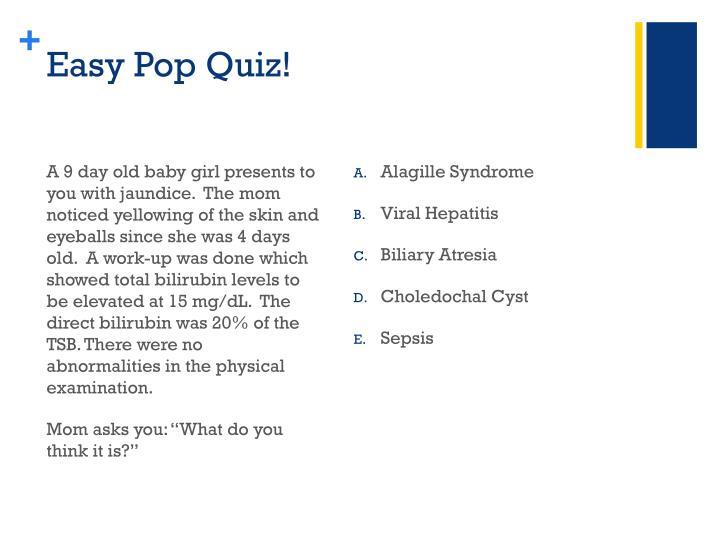 Easy Pop Quiz!