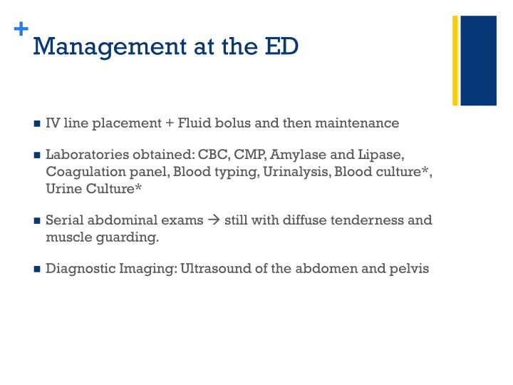 Management at the ED