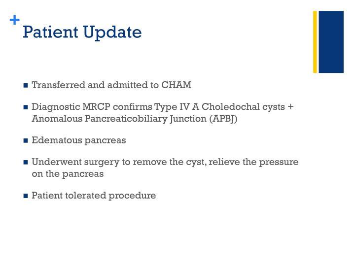 Patient Update