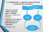 i competition a driving force for the economic development