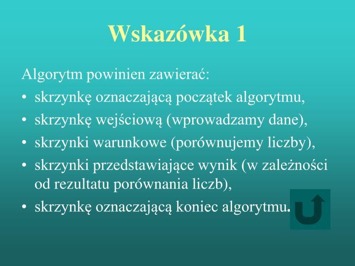 Wskazówka 1