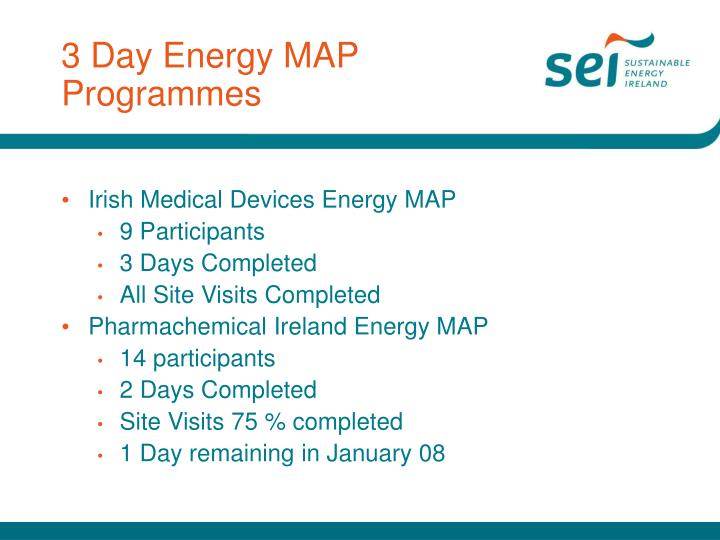 3 day energy map programmes