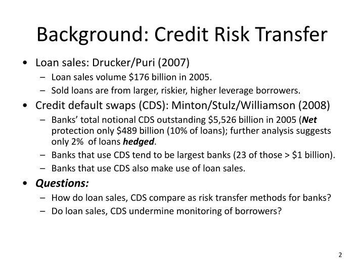 Background: Credit Risk Transfer