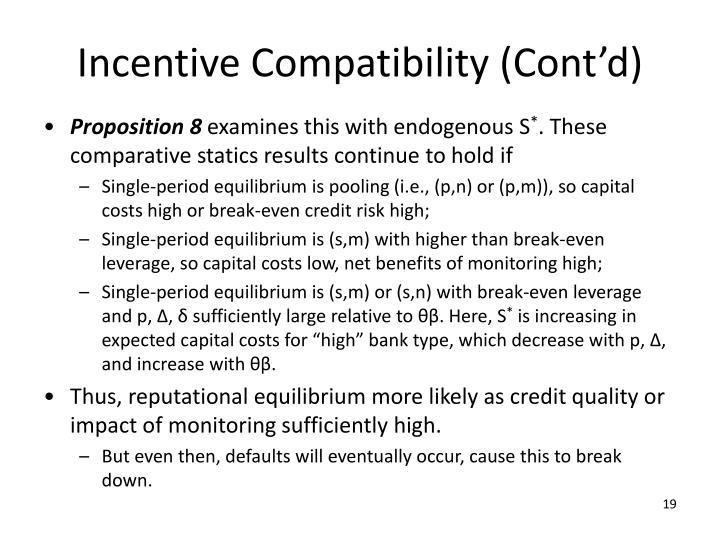 Incentive Compatibility (Cont'd)