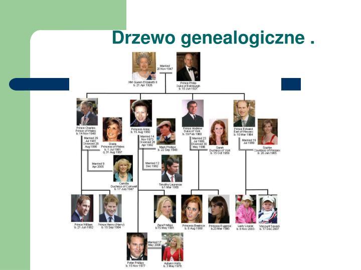 Drzewo genealogiczne .