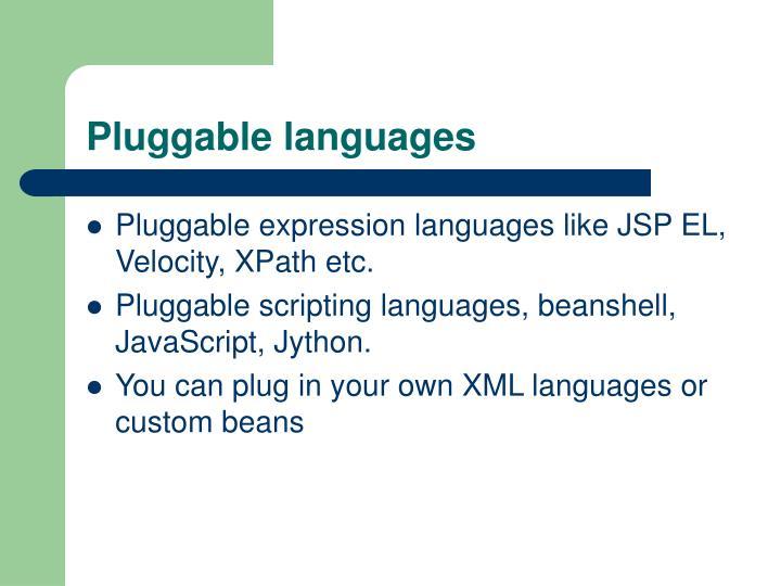 Pluggable languages