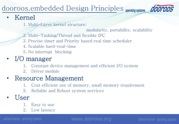 dooroos.embedded Design Principles