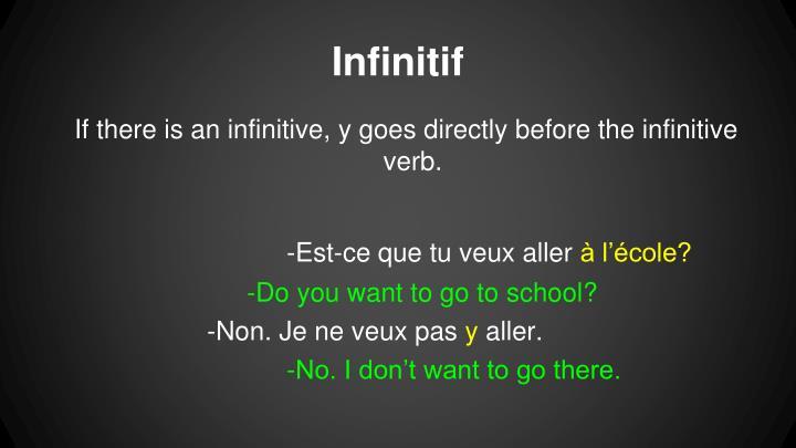 Infinitif