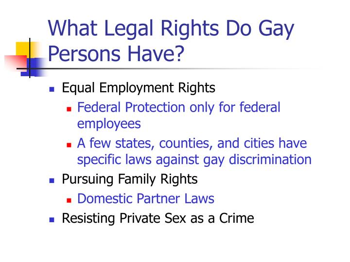 What Legal Rights Do Gay Persons Have?