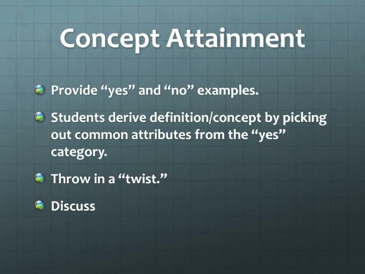 Concept Attainment