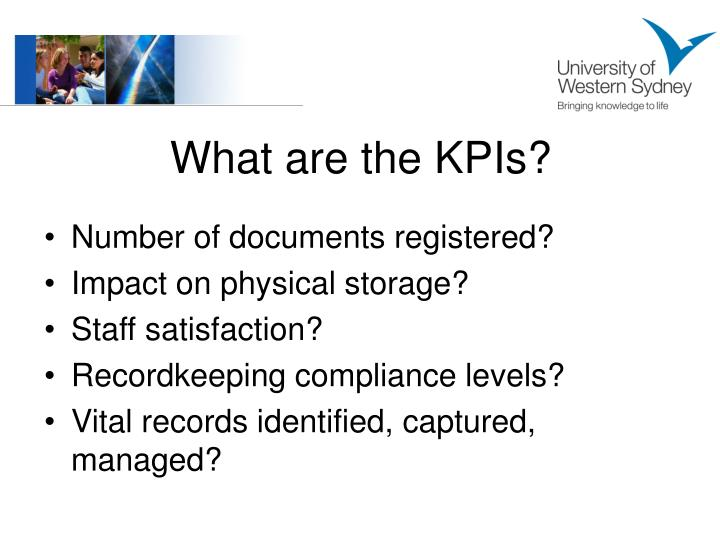 What are the KPIs?