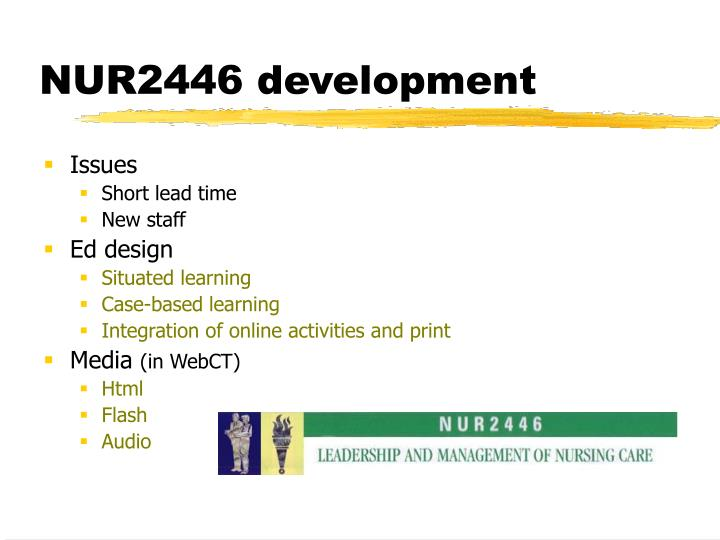 NUR2446 development