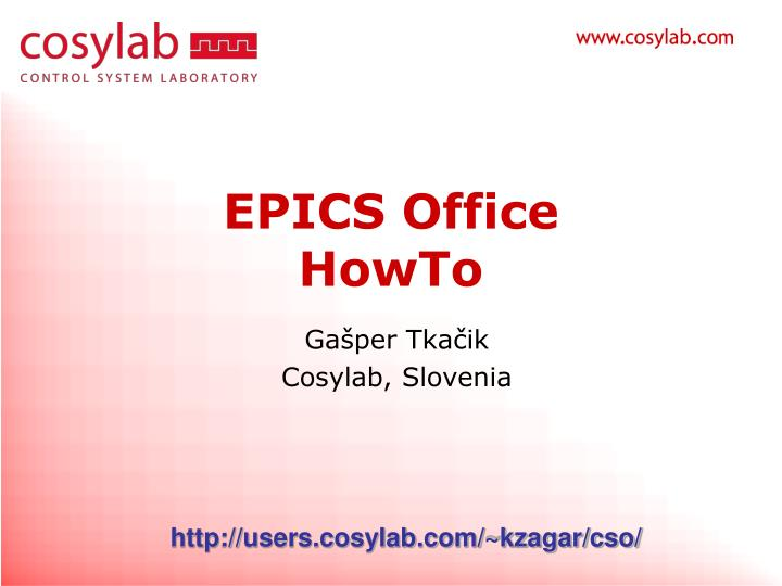 Epics office howto