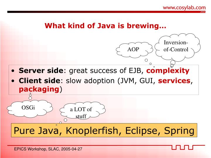 What kind of Java is brewing…
