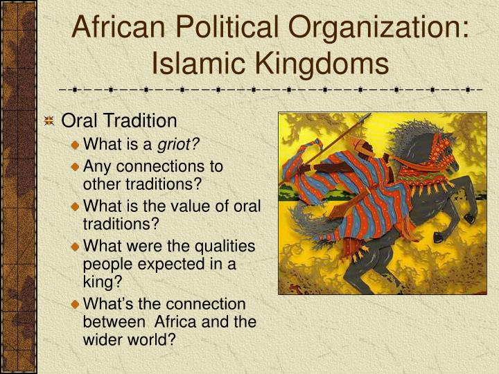 oral traditions of islam The traditional muslim family is extended, often spanning 3 or more generations   for those using the combined oral contraceptive pill, they can be safely.