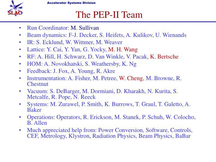 The PEP-II Team