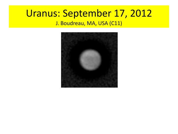 Uranus: September 17, 2012