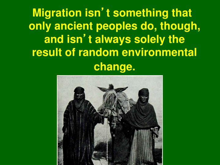 Migration isn