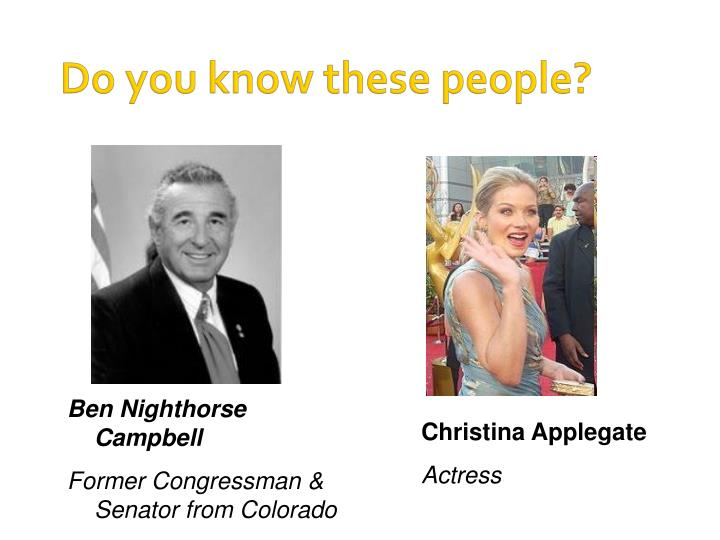 Do you know these people?