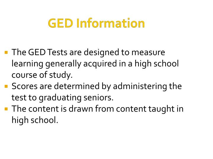 GED Information
