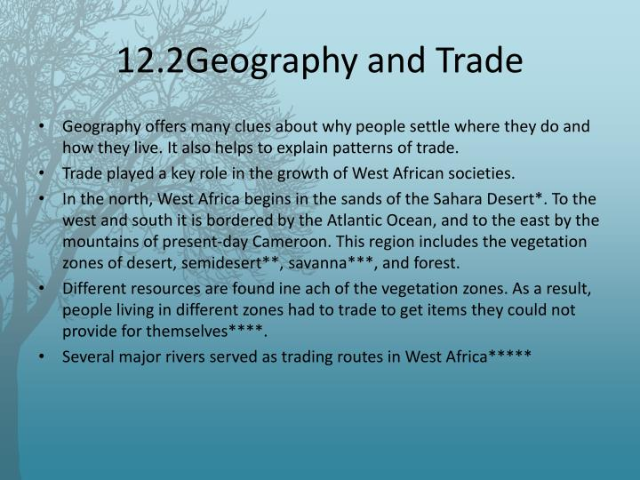 12.2Geography and Trade