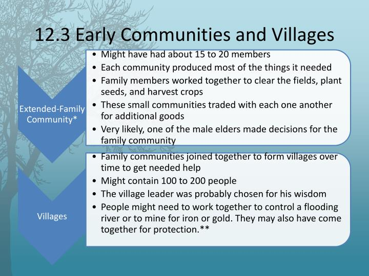 12.3 Early Communities and Villages