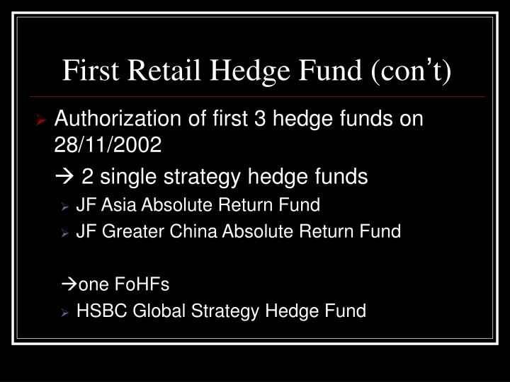 First Retail Hedge Fund (con