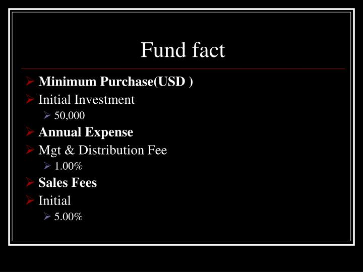 Fund fact