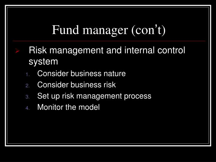 Fund manager (con