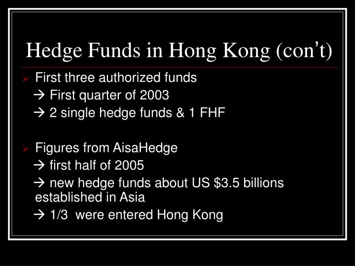 Hedge Funds in Hong Kong (con