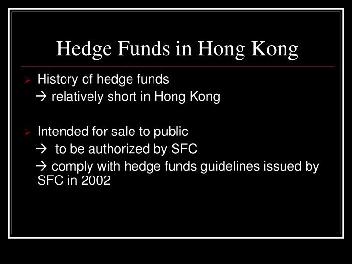 Hedge Funds in Hong Kong