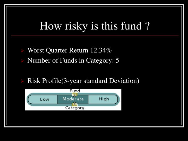 How risky is this fund ?