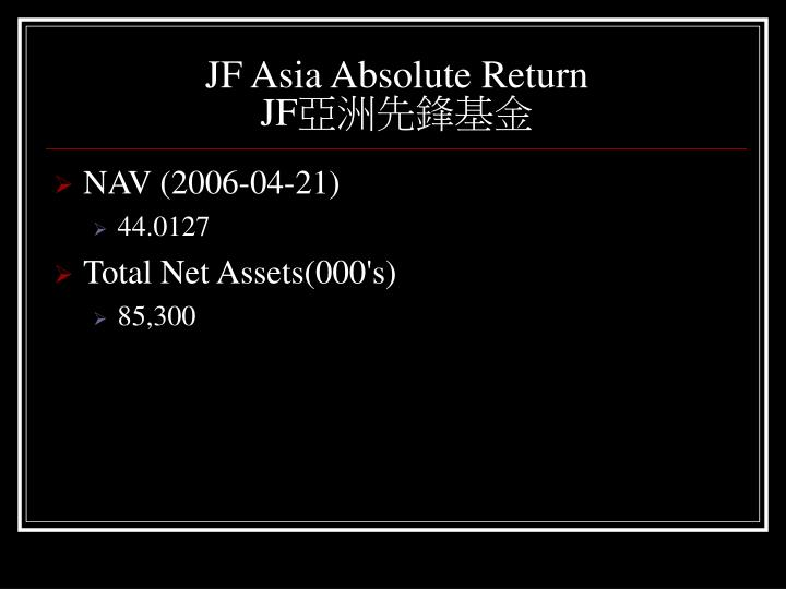 JF Asia Absolute Return