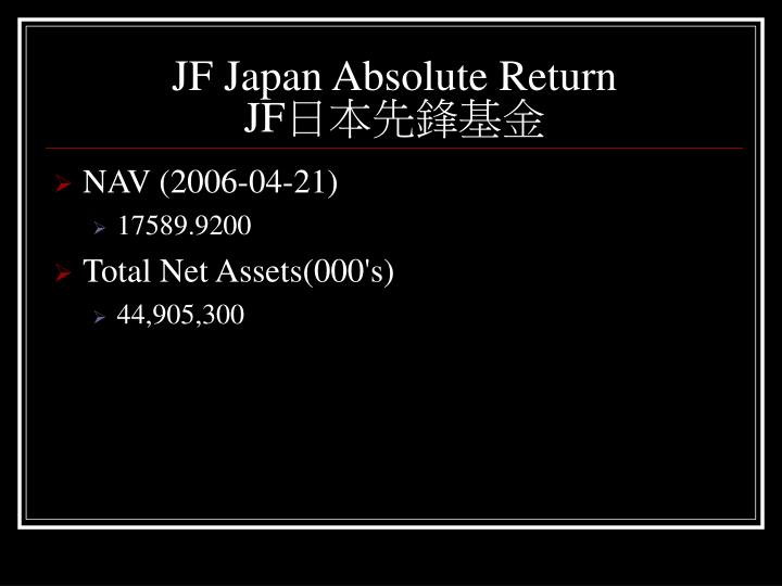 JF Japan Absolute Return