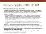 kierownik projektu preludium4