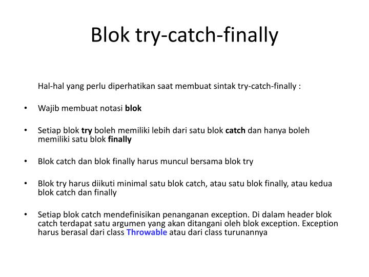 Blok try-catch-finally