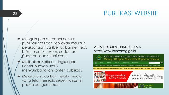 PUBLIKASI WEBSITE